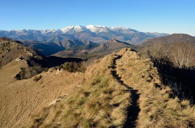 Blick nach Norden zum Canigò