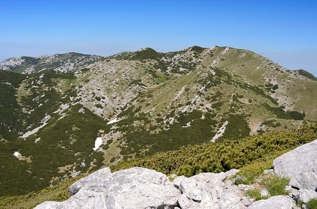 Blick hinüber zum nächsten, dem Vaganski vrh