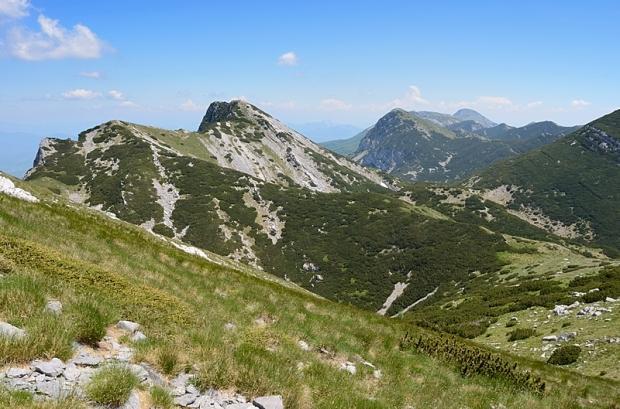 Gipfelhang des Vaganski vrh